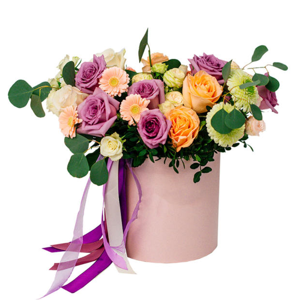 """Цветы в коробке """"Весенний"""""""